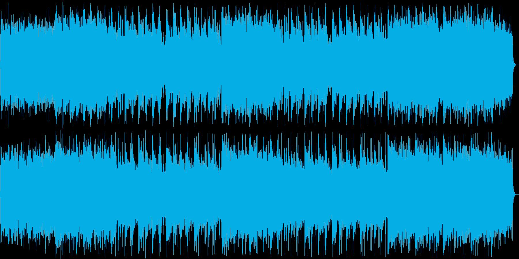 厳かな和風ミュージックの再生済みの波形
