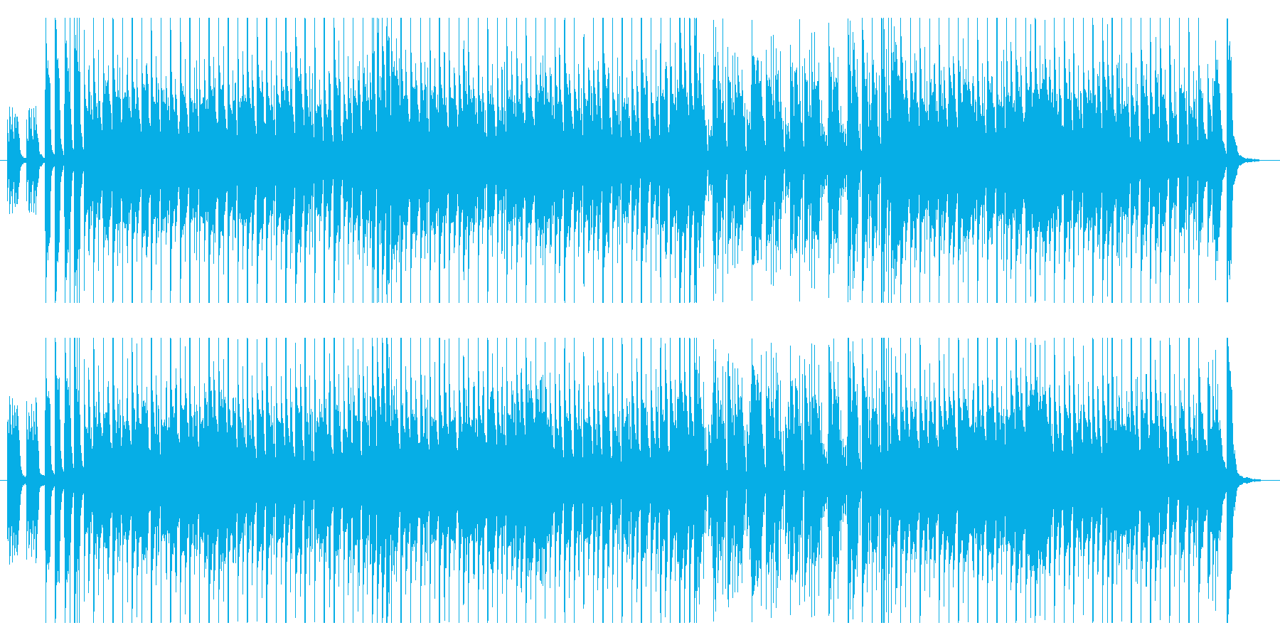 ほのぼのした明るいオープニングに最適の再生済みの波形