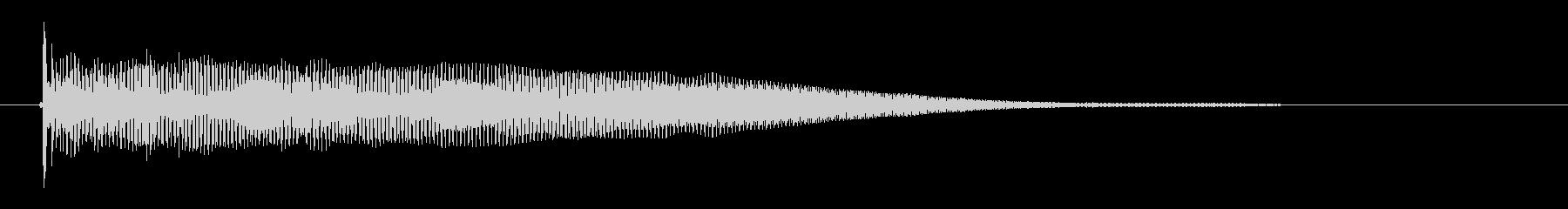 ドオーンという低音の未再生の波形