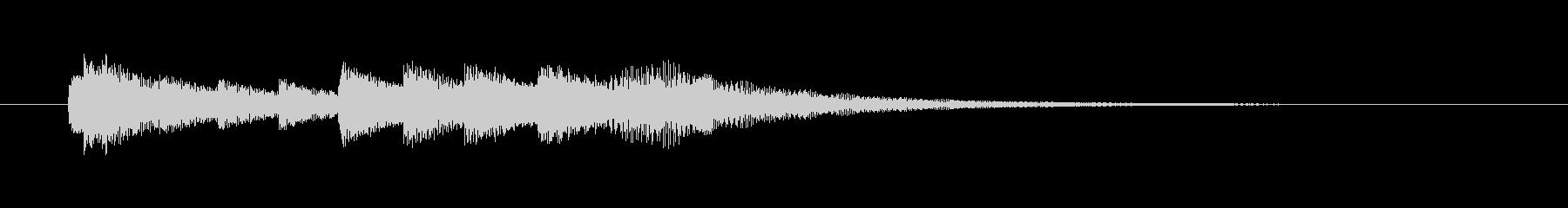 優しくかわいいオルゴールジングルの未再生の波形