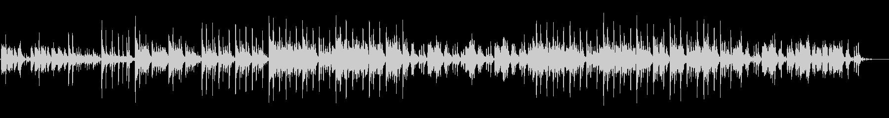 独特なリズムで音色が綺麗なメロディーの未再生の波形