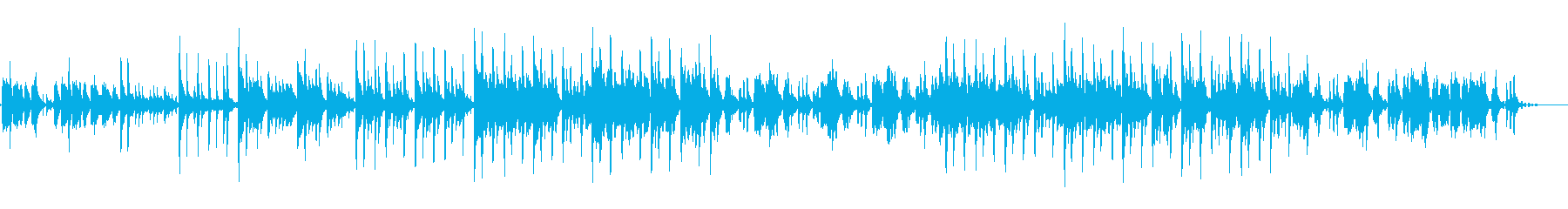 独特なリズムで音色が綺麗なメロディーの再生済みの波形