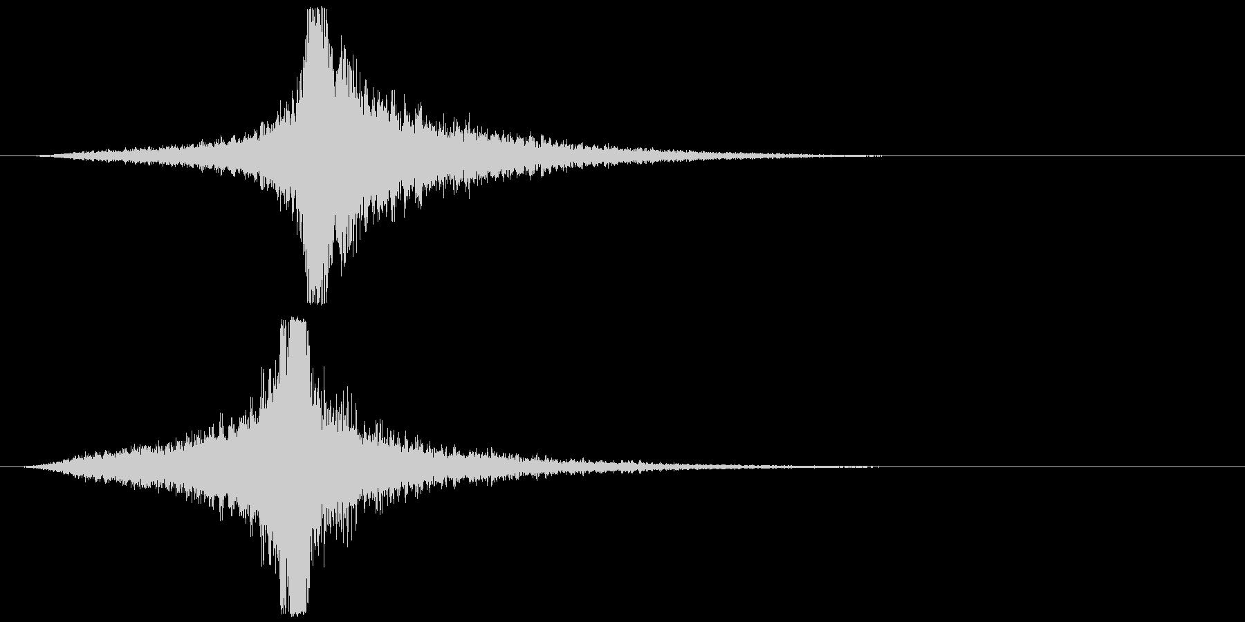 宇宙船・飛翔体#4通過 右〜左の未再生の波形