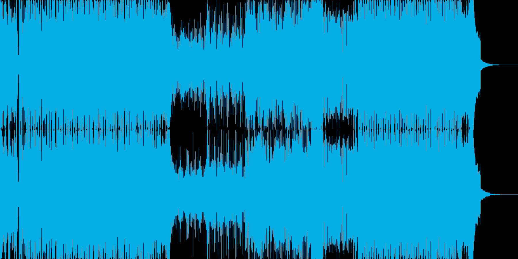 ハイテンションなワブルベースのEDMの再生済みの波形