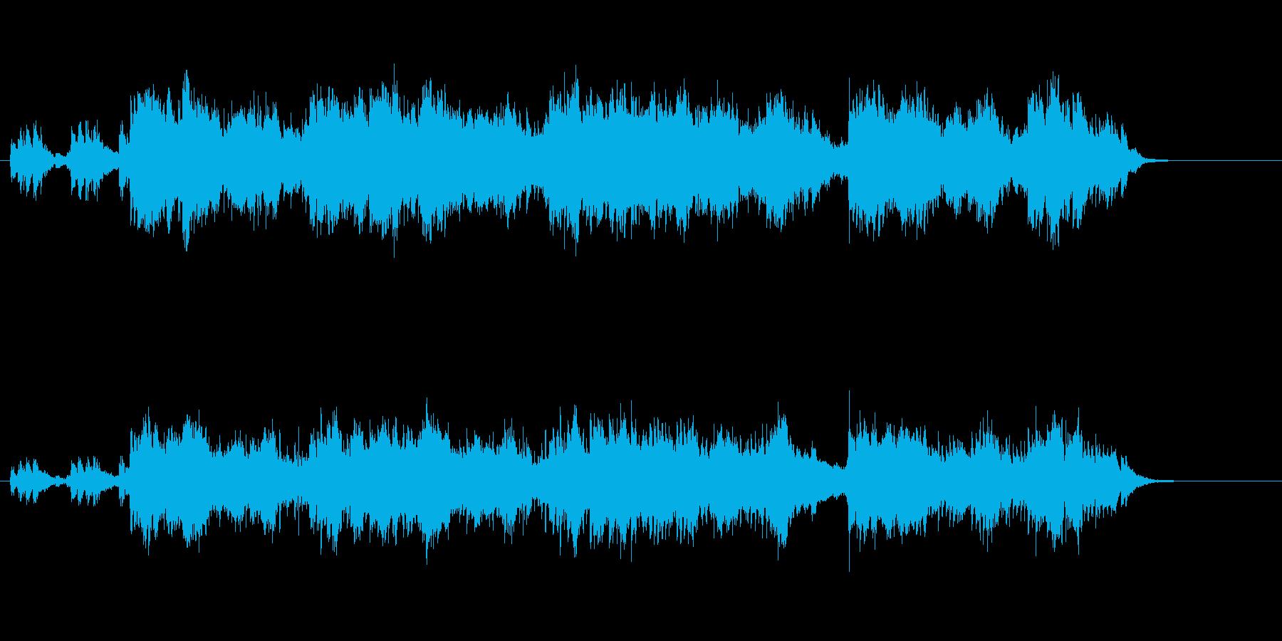 せせらぎ風アンビエント・ミュージックの再生済みの波形