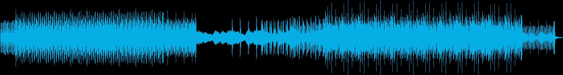 緊迫感とドライブ感のあるミニマルテクノの再生済みの波形