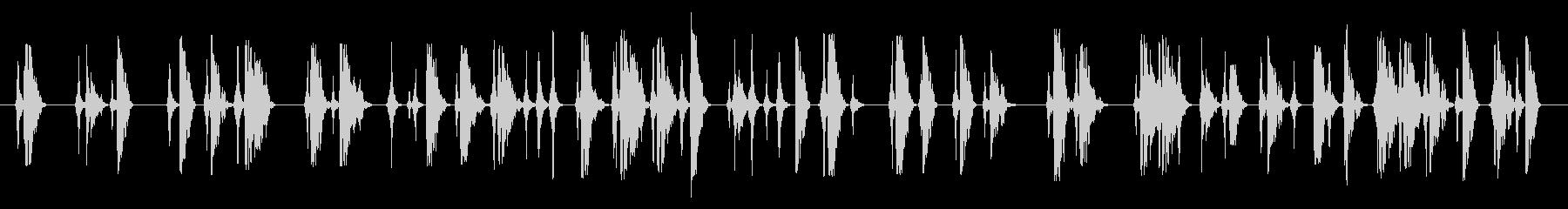 格闘シーンの未再生の波形