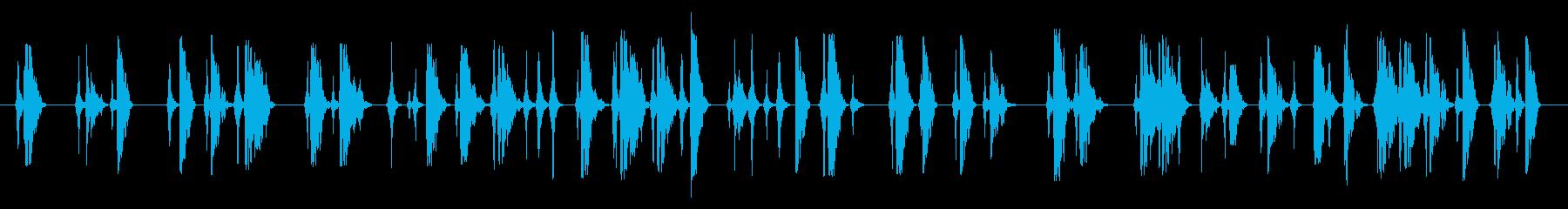 格闘シーンの再生済みの波形