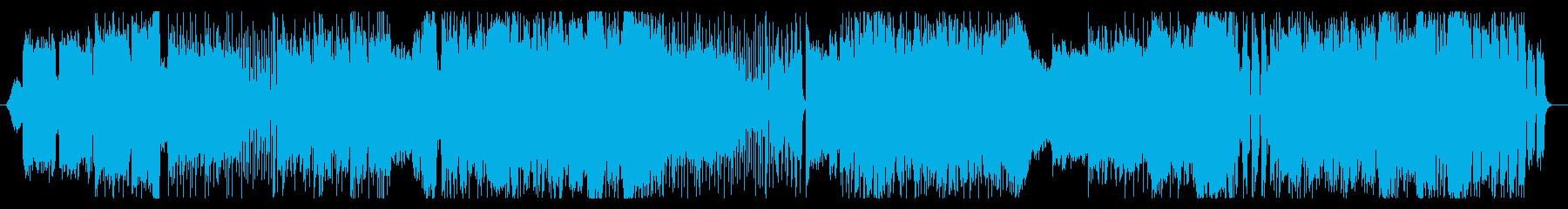 アニメソング風ロックの再生済みの波形
