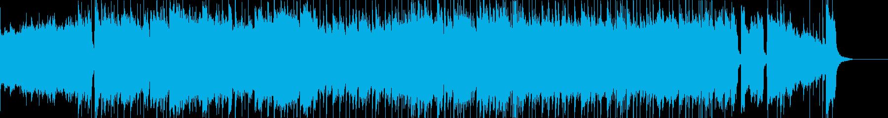 ピアノとバイオリン主体のバラードインストの再生済みの波形