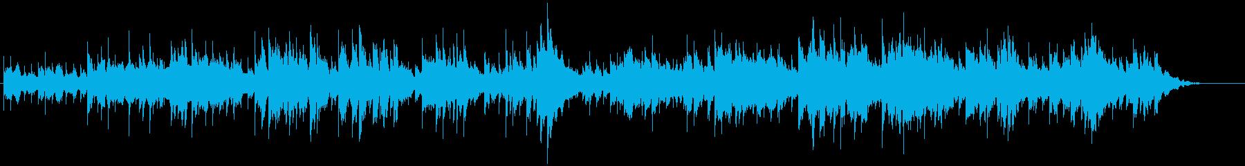 伝統的なクリスマス曲の再生済みの波形