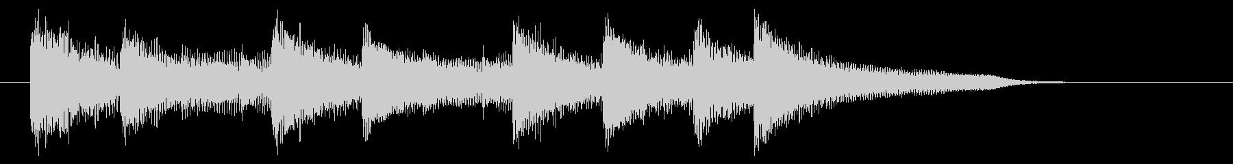 爽やかで勢いのあるピアノジングル 8秒の未再生の波形