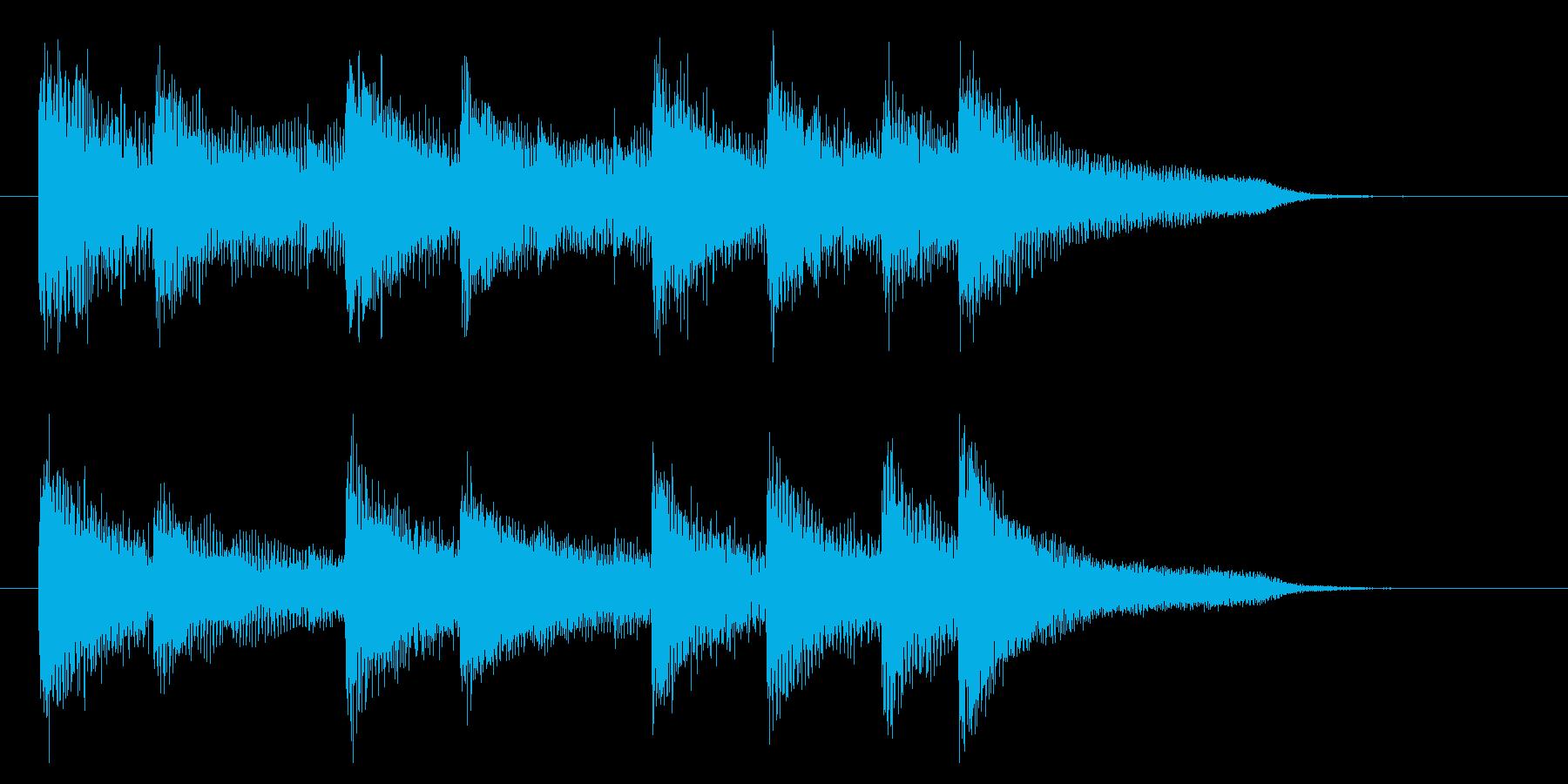 爽やかで勢いのあるピアノジングル 8秒の再生済みの波形