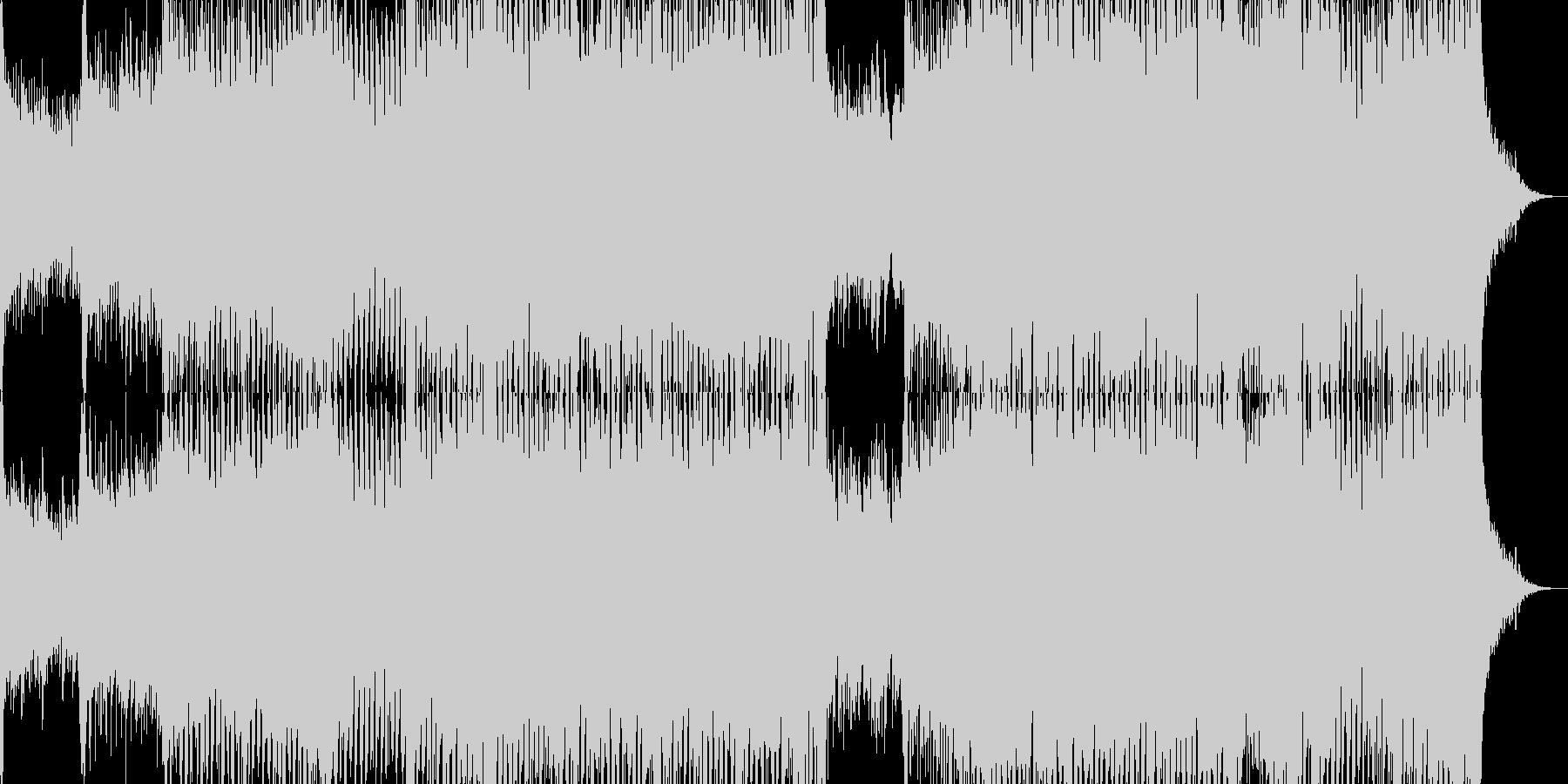 尺八が美しいメロディを奏でる和風トランスの未再生の波形