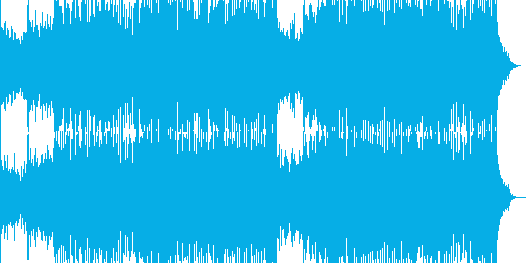 尺八が美しいメロディを奏でる和風トランスの再生済みの波形