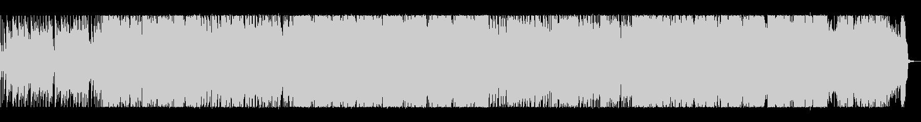 軽快でホットなロックサウンドの未再生の波形