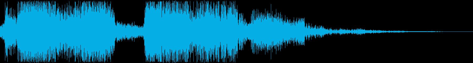 アンデッド/モンスターの叫び声_複数の再生済みの波形
