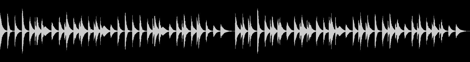 ループ可 木琴・ほのぼの料理・犬・散歩の未再生の波形
