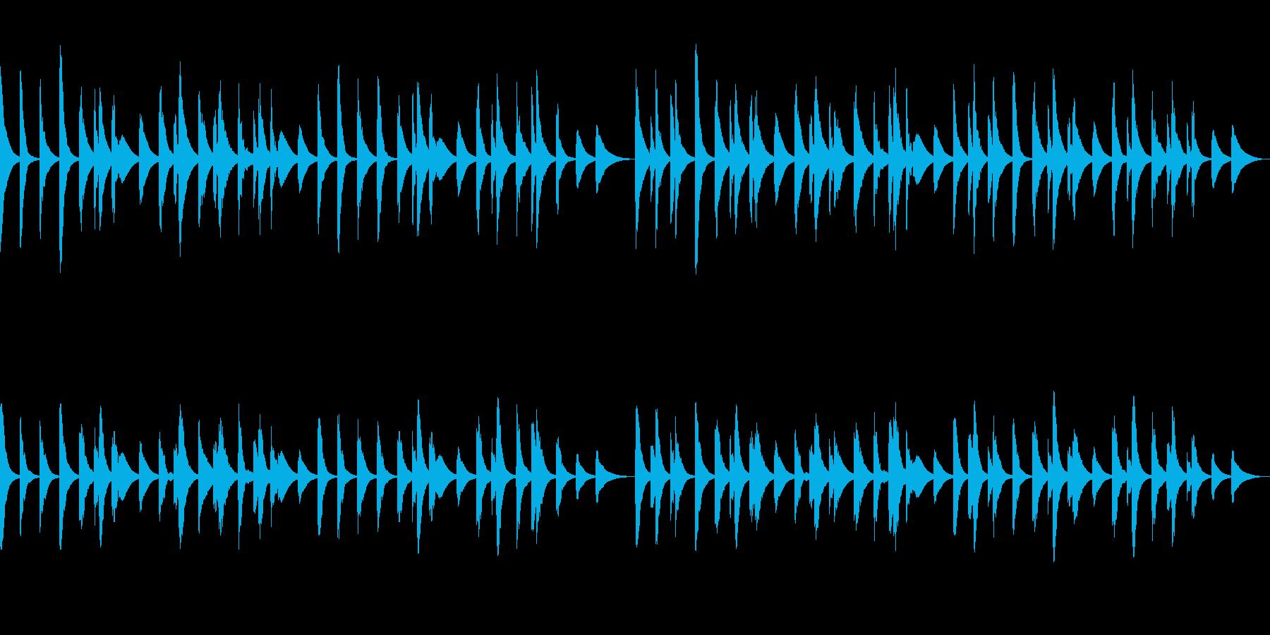 ループ可 木琴・ほのぼの料理・犬・散歩の再生済みの波形