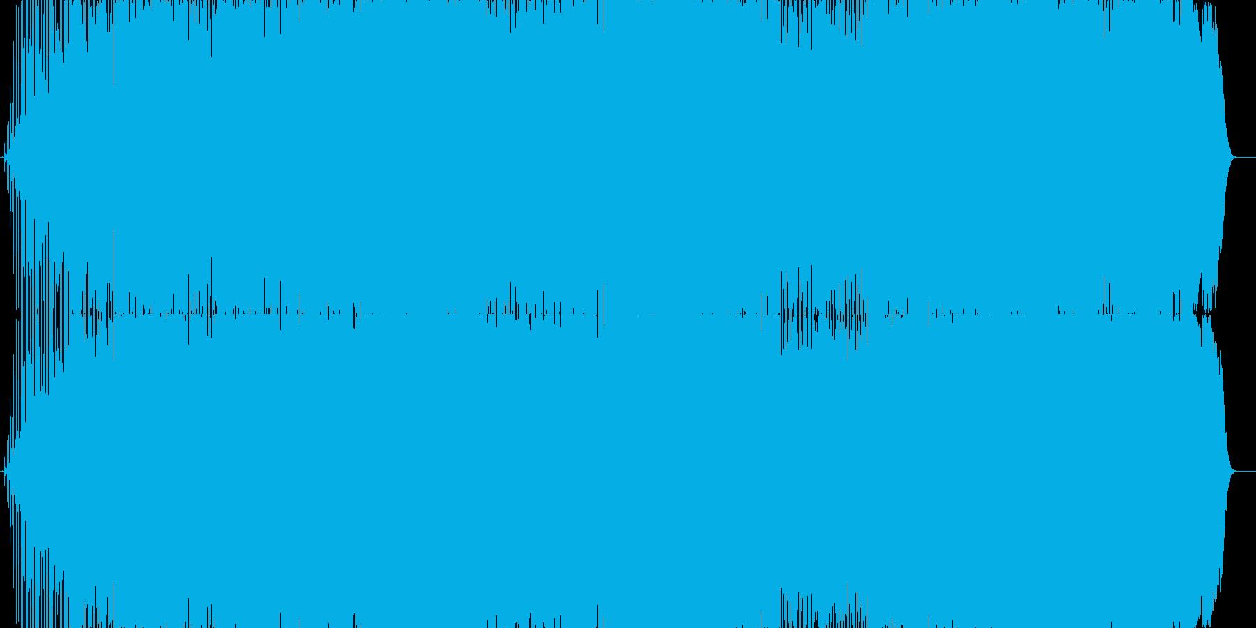 リズミカルでテンポのいいロック曲。の再生済みの波形