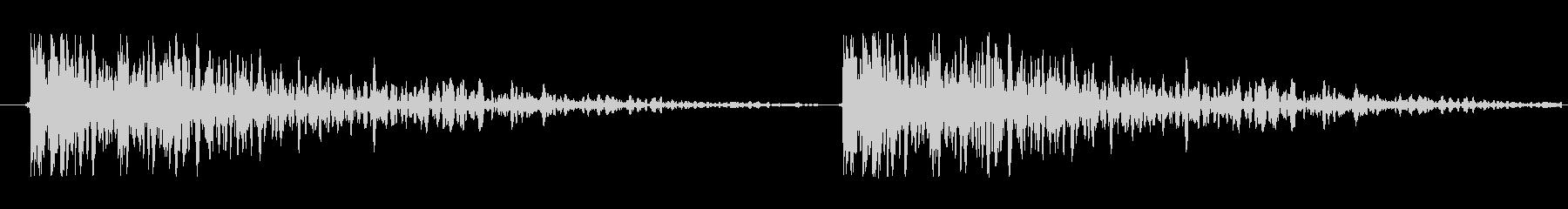 【ドア/叩く音/どんどん/効果音】の未再生の波形