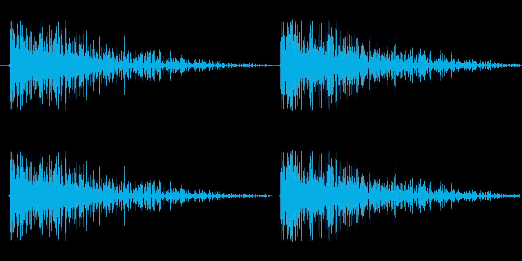 【ドア/叩く音/どんどん/効果音】の再生済みの波形