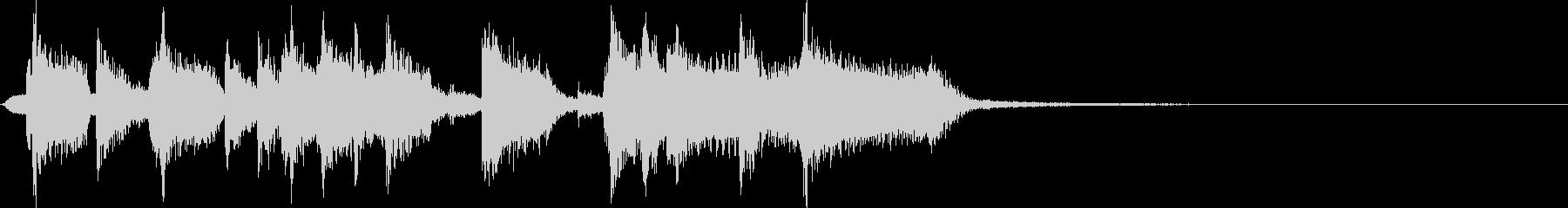 ロックなキメのあるエレキギタージングルの未再生の波形