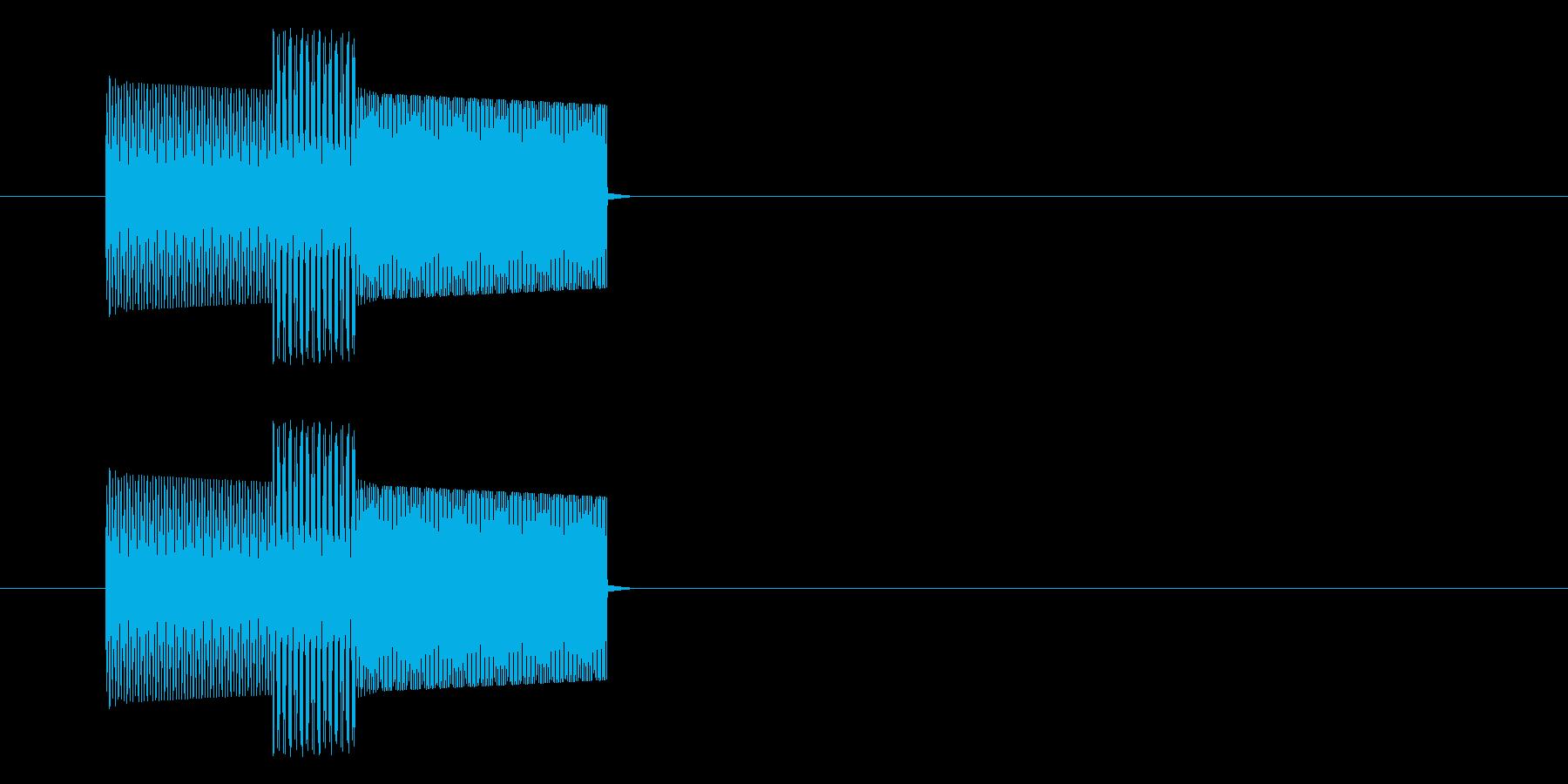 ゲーム・コマンド・文字入力音_レトロの再生済みの波形