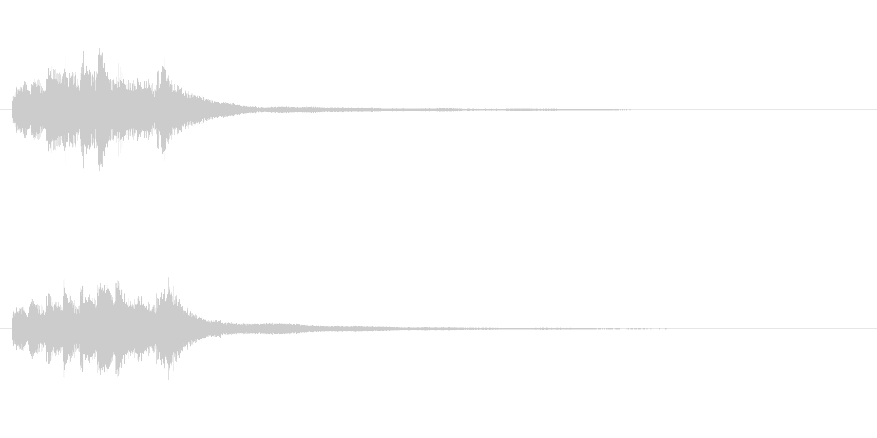 アテンション向きのメロディ(ゆったり)の未再生の波形