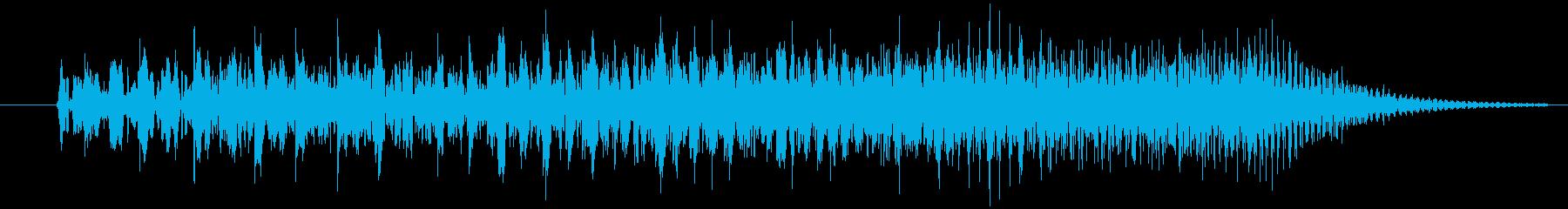 クイズ出題音2の再生済みの波形
