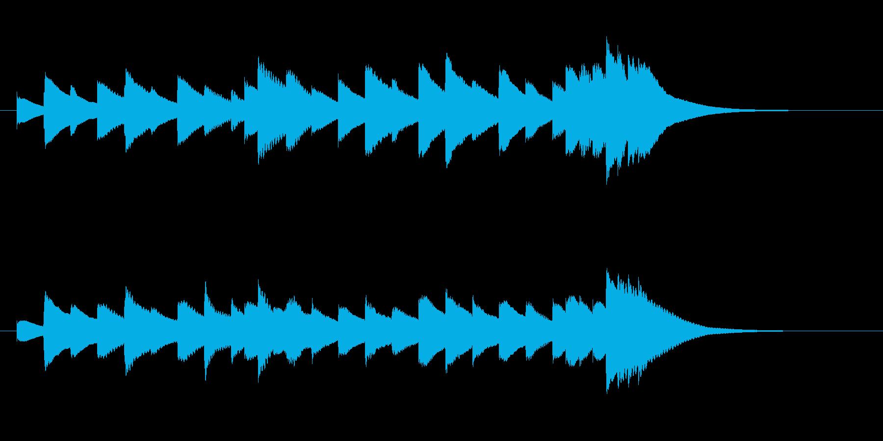 かっこうワルツ(ヨナーソン作)オルゴールの再生済みの波形