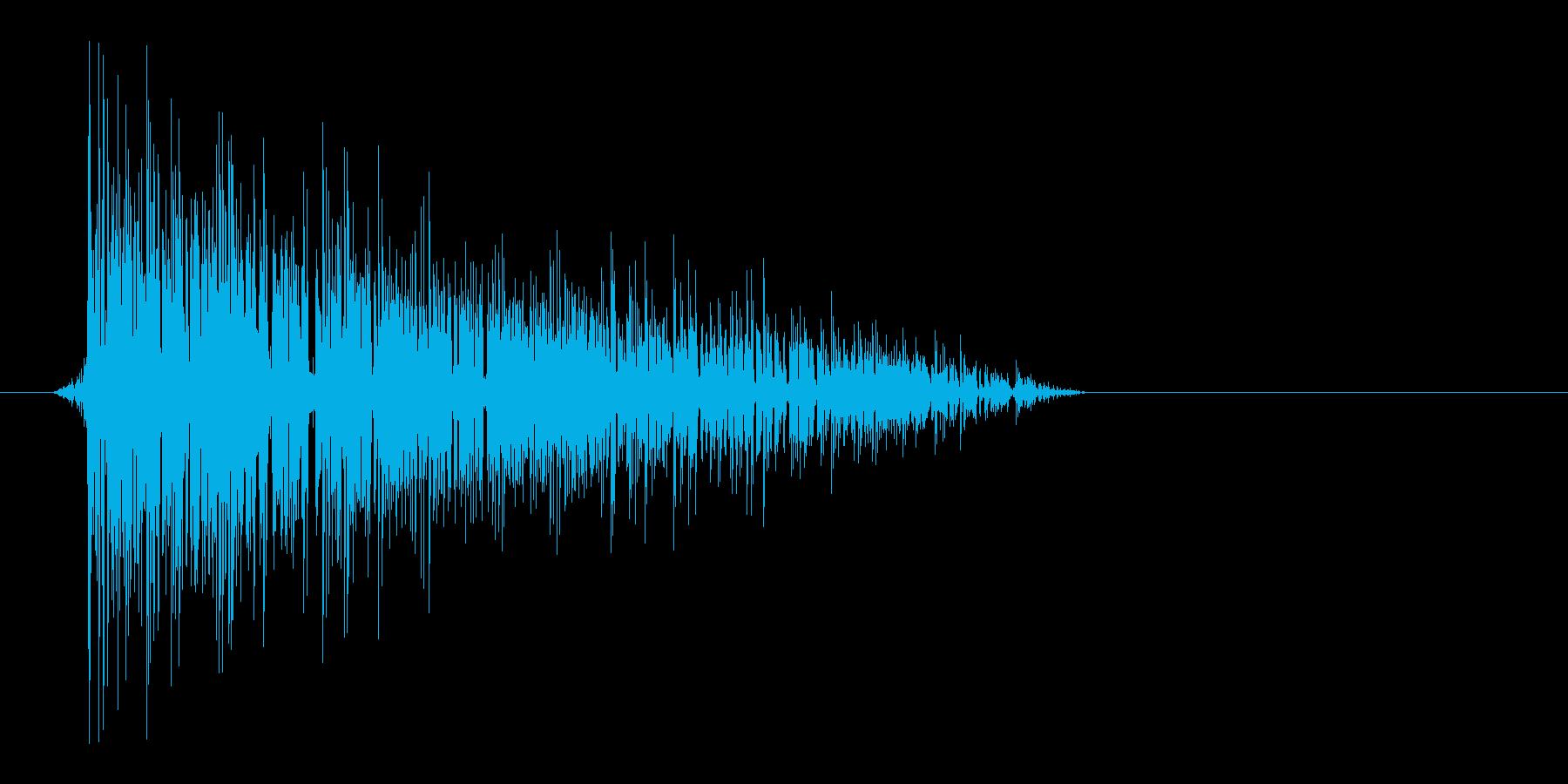 ゲーム(ファミコン風)爆発音_031の再生済みの波形