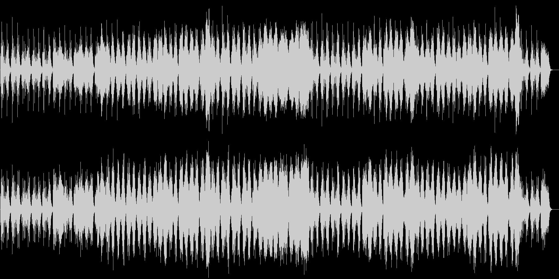 ハープと木製フルートの音色が美しい音楽の未再生の波形