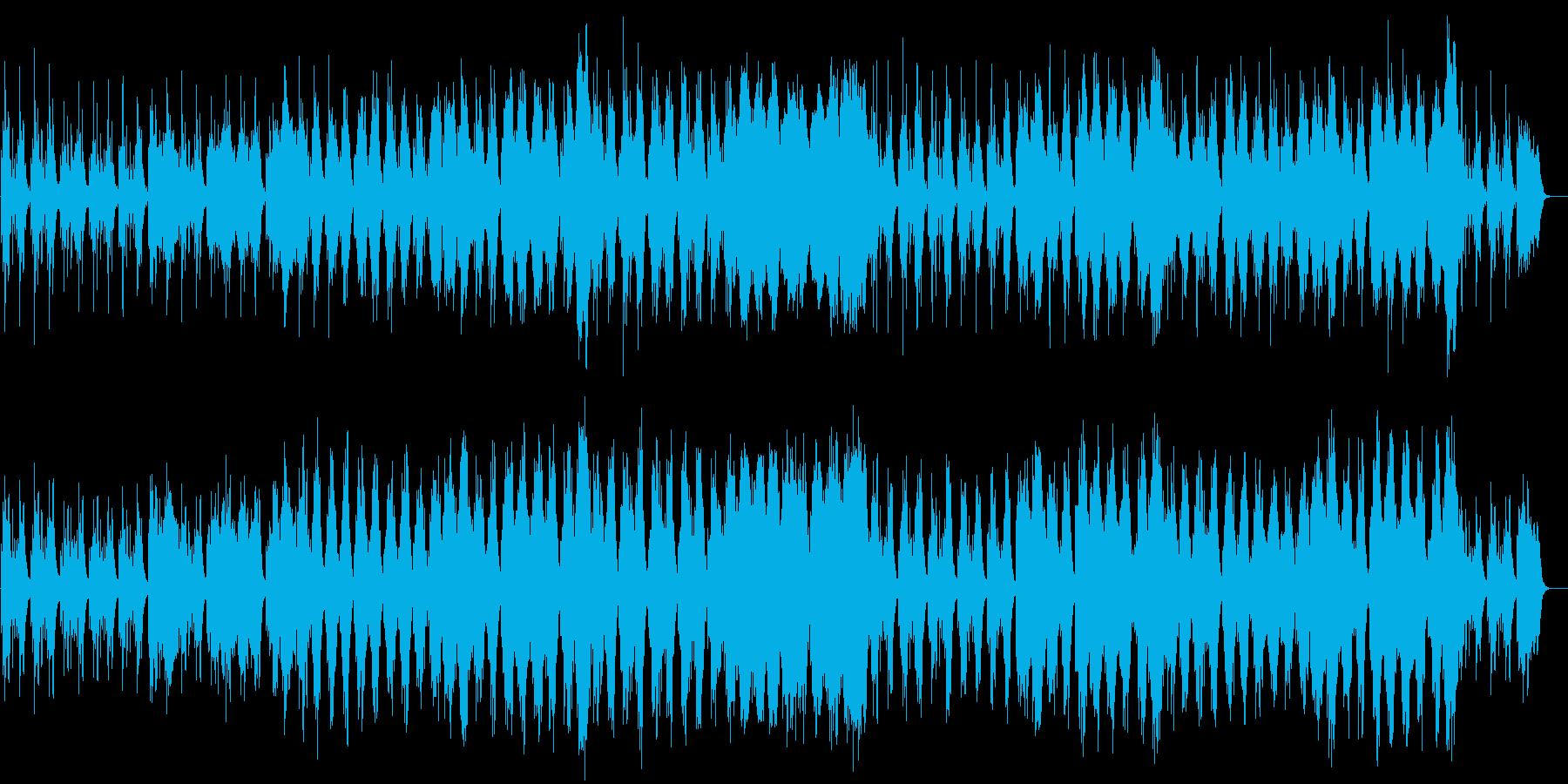 ハープと木製フルートの音色が美しい音楽の再生済みの波形