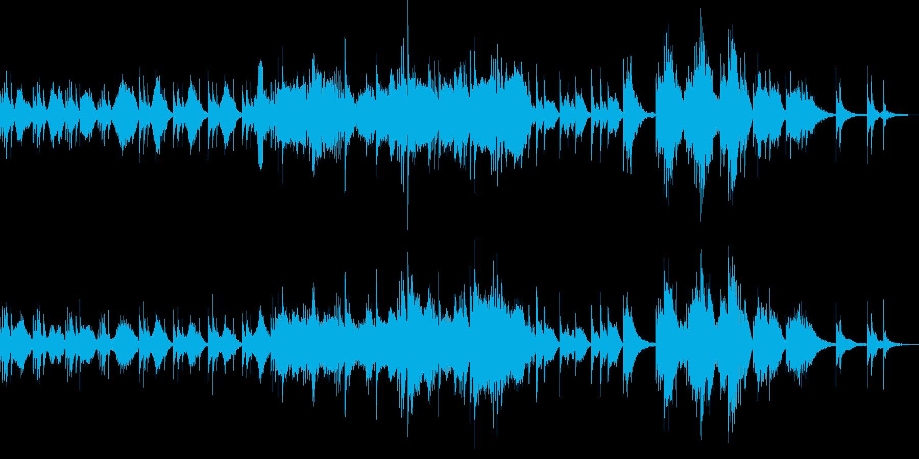 和の神秘的なピアノバラードの再生済みの波形