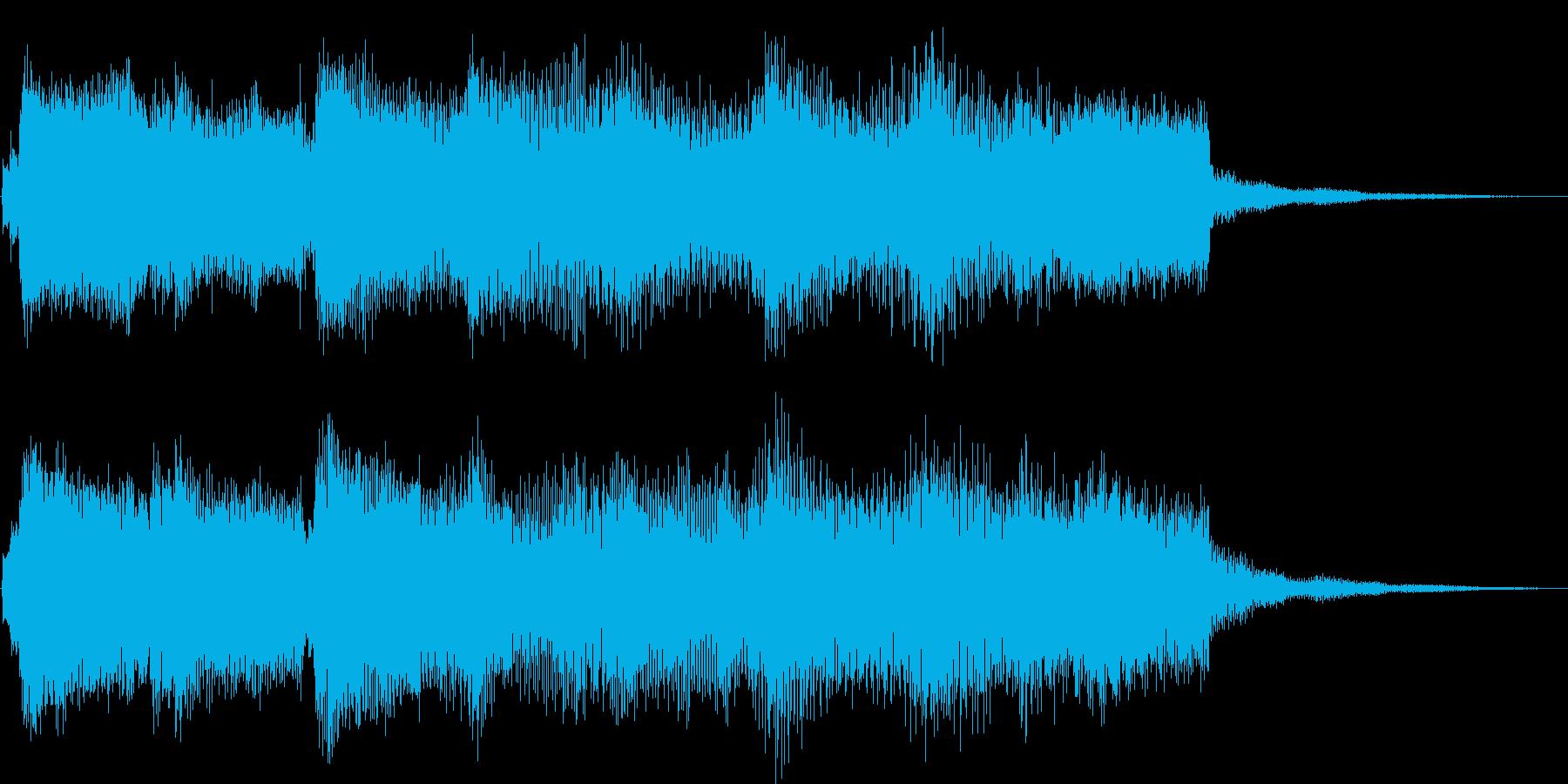 ゆったりとしたジャジーなジングルの再生済みの波形