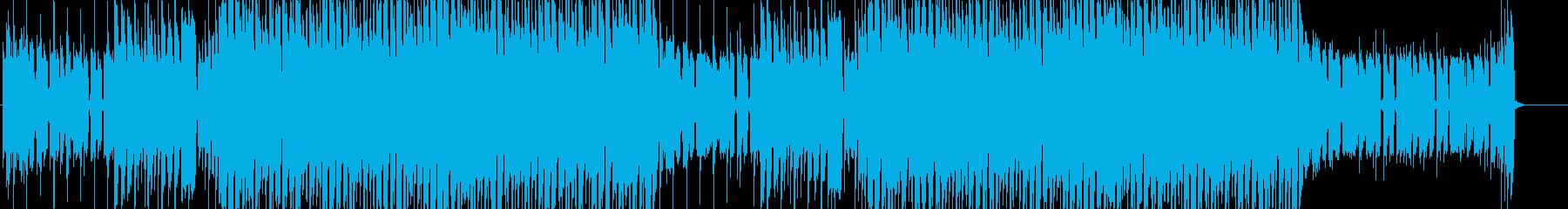 ギターカッティングが特徴的なポップスの再生済みの波形