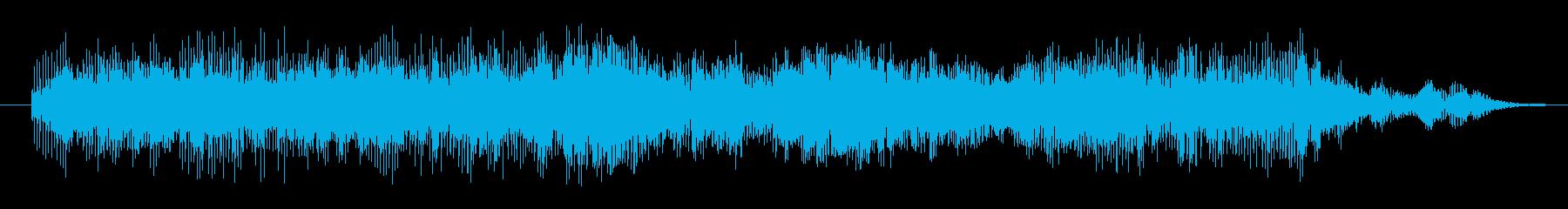 打撃 エイリアンシンセ01の再生済みの波形