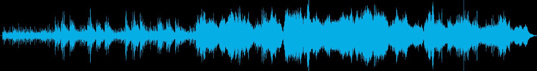 落ち着きのある幻想的なエレクトロニカの再生済みの波形