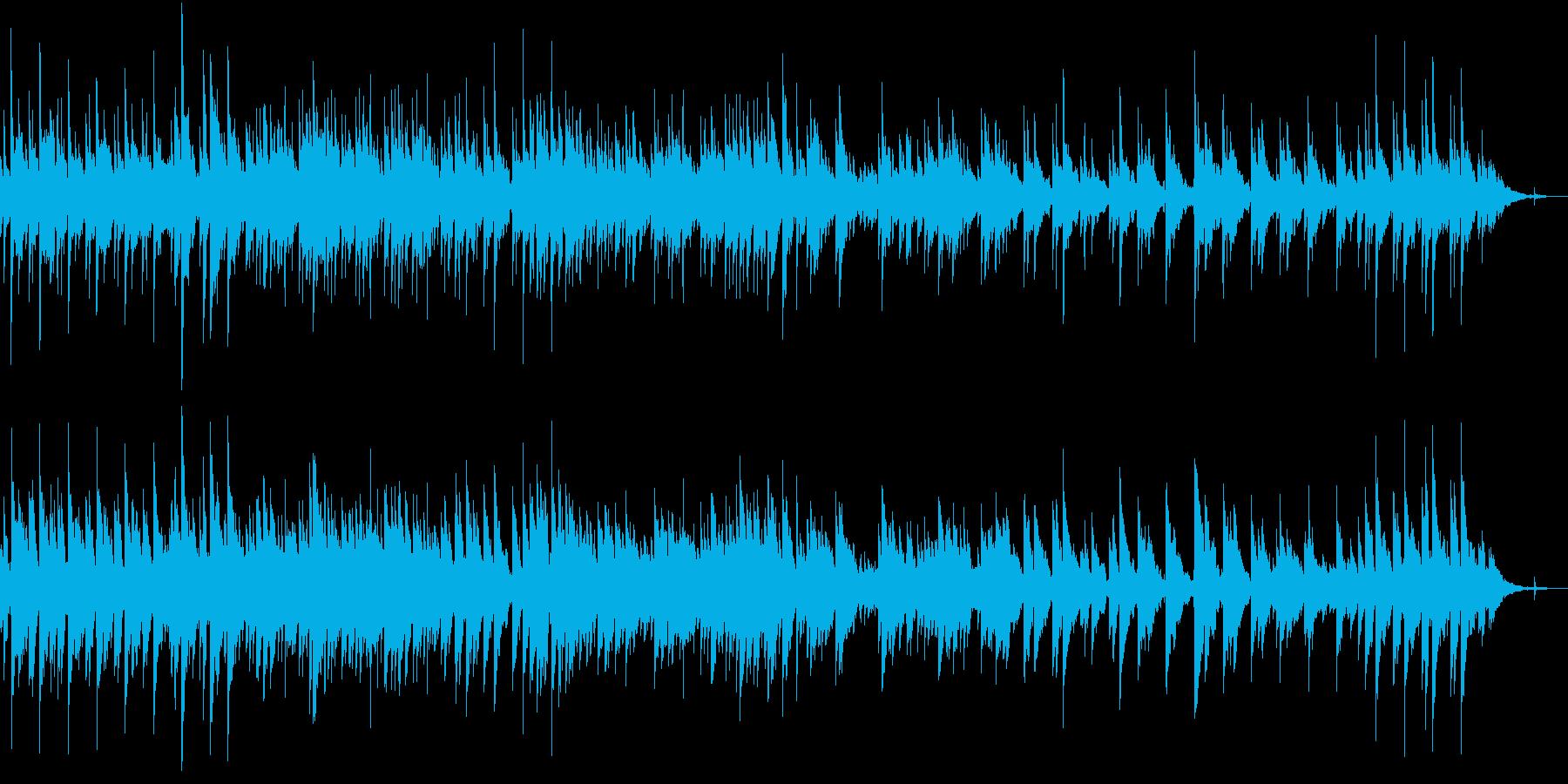 ゆったりと落ち着いたアコギ曲の再生済みの波形
