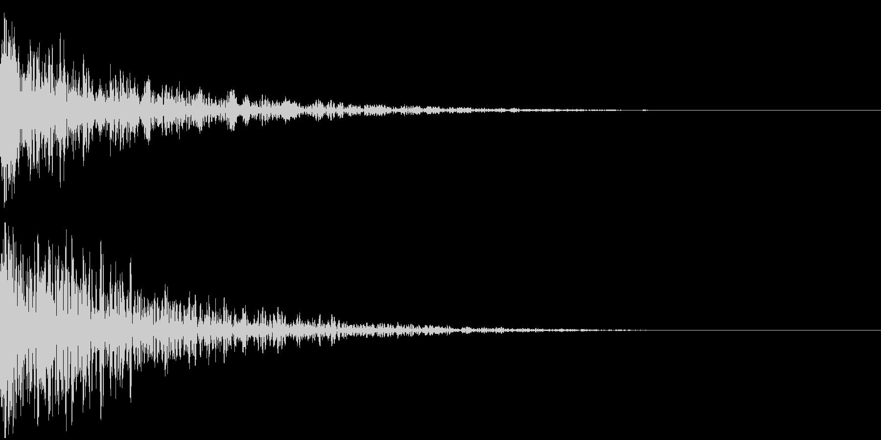 ドーン-08-2(インパクト音)の未再生の波形
