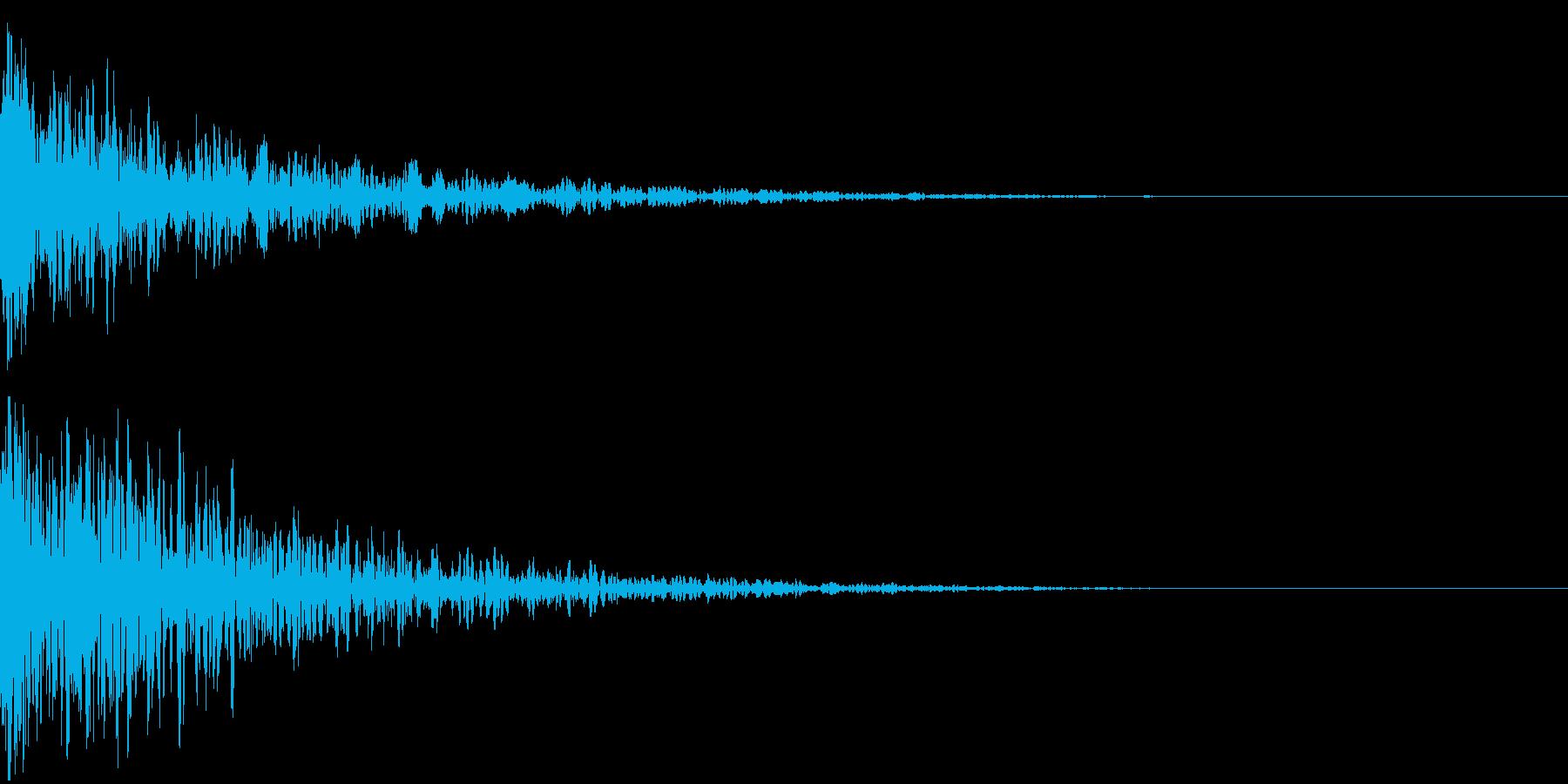 ドーン-08-2(インパクト音)の再生済みの波形