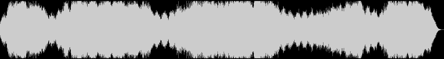 海を抽象化したようなヒーリングBGMの未再生の波形