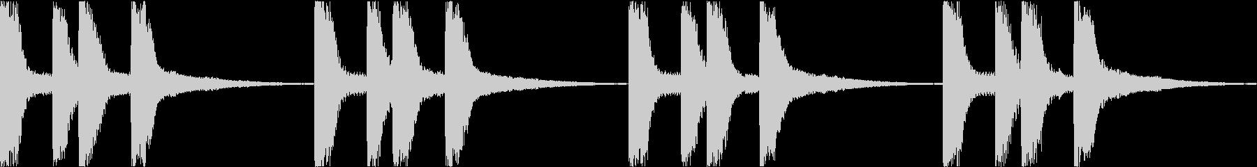 シンプル ベル 着信音 チャイム B-7の未再生の波形