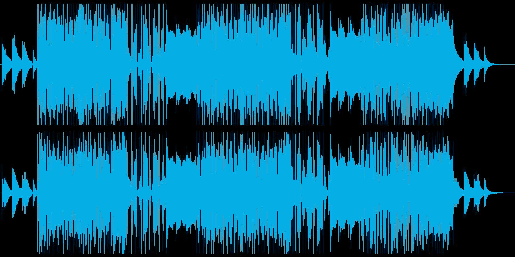 悲壮感のあるポップス風バラードの再生済みの波形