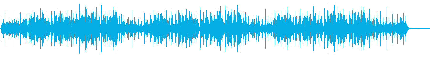 ウクレレを使ったハワイ風のクリスマス曲の再生済みの波形