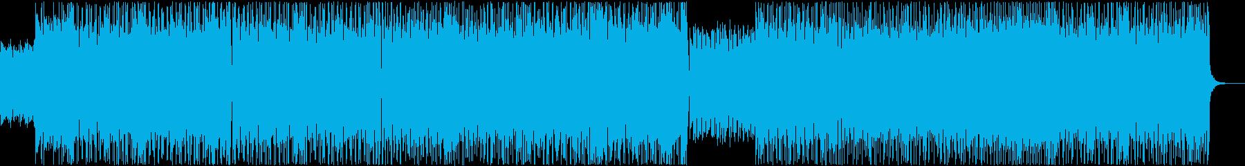 パワフルで疾走感のあるメタル風ロックの再生済みの波形
