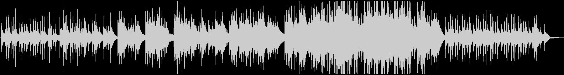 ゆったりとした切ない和風ピアノバラード曲の未再生の波形