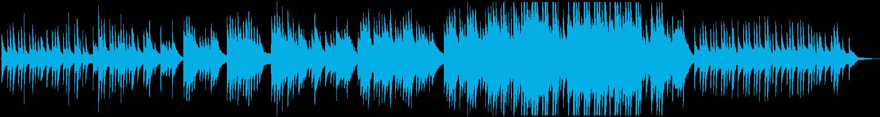 ゆったりとした切ない和風ピアノバラード曲の再生済みの波形