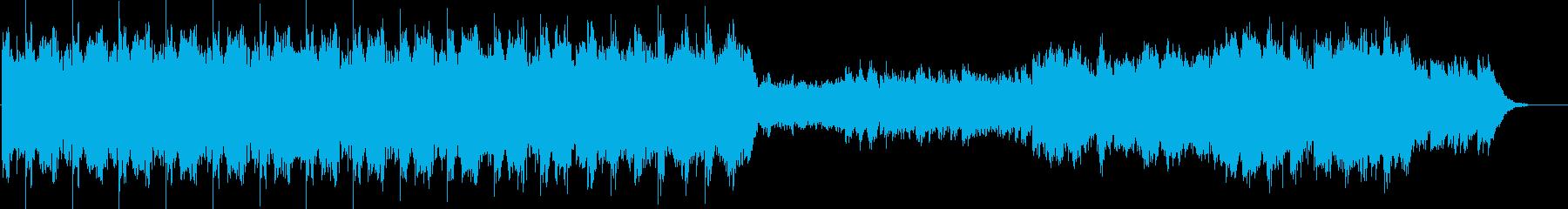平和な宇宙の旅を表現した曲の再生済みの波形